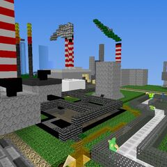 It's a part of the industrial sector of the first city, there are money making, pulp and paper, chemical and more factories