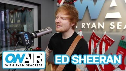 "Ed Sheeran ""Thinking Out Loud"" Acoustic On Air with Ryan Seacrest"