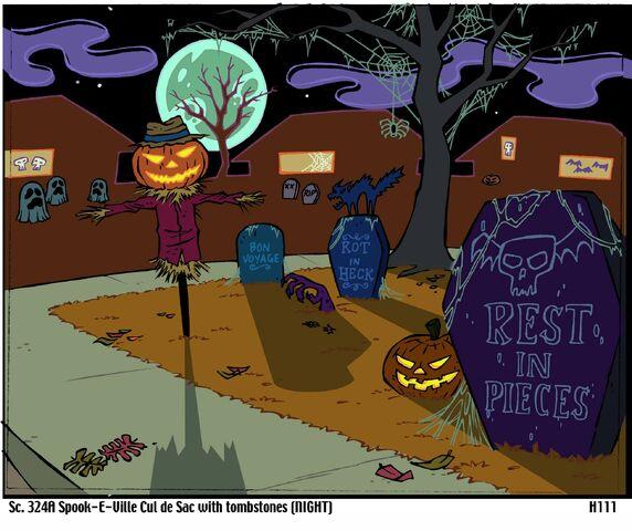 File:Spook-E-Ville Clu de Sac with Tombstones.jpg
