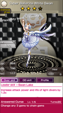 0289 Cyber Ballerina White Swan