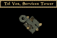 Tel Vos, Service Towers - Interior Map - Morrowind