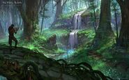 Secluded waterfall in Grahtwood