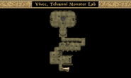 Vivec, Telvanni Monster Lab Interior Map Morrowind