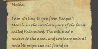 Unfinished Letter to Summerset