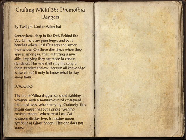 File:Crafting Motifs 35, Dro-m'Athra Daggers.png