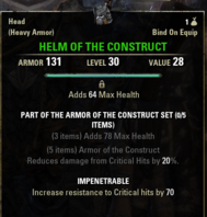 Armor of the Construct - Helm 30