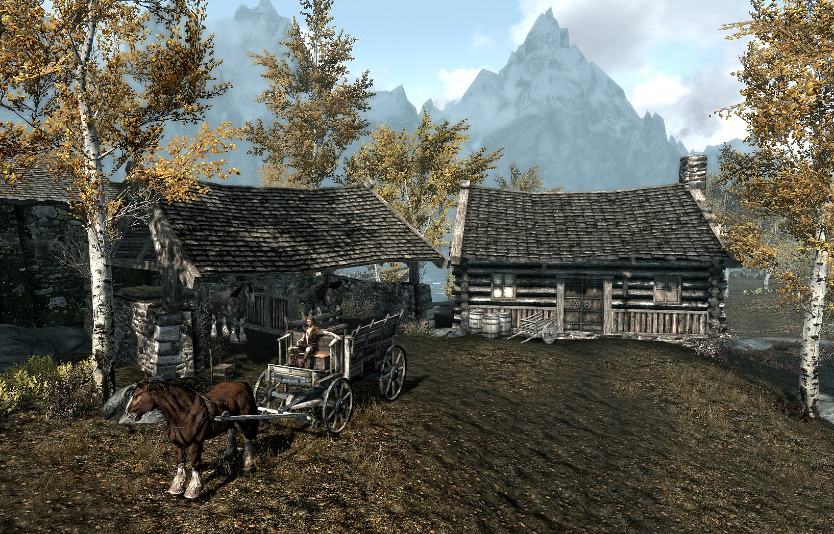 how to put horse in stable skyrim hearthfire