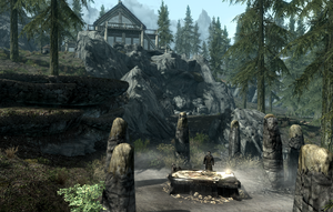 Conjurer's Altar behind Lakeview Manor
