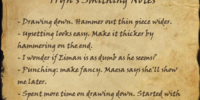 Tryn's Smithing Notes