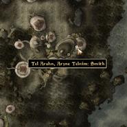 Tel Arhun Aryne Smith - Local Map - Morrowind