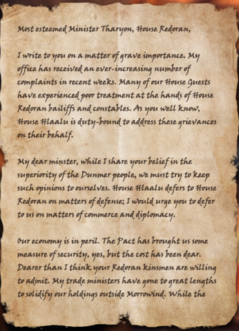 File:Hlaalu Letter of Complaint - Page 1.png