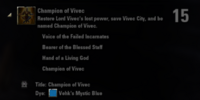 Champion of Vivec