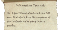Wansalen Tunnels