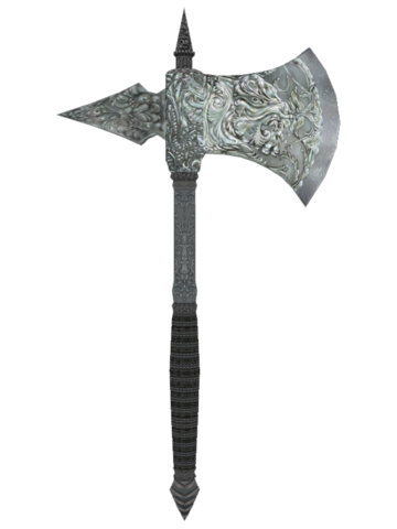 File:Oblivion SilverWarAxe.png