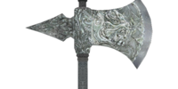 Durable Silver War Axe