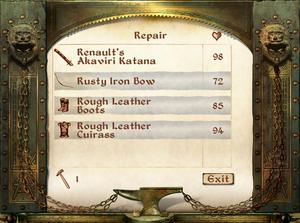 Repair Interface