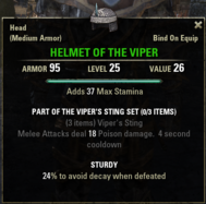 Vipers Sting - Helmet 25