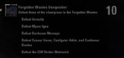 Forgotten Wastes Vanquisher Achievement