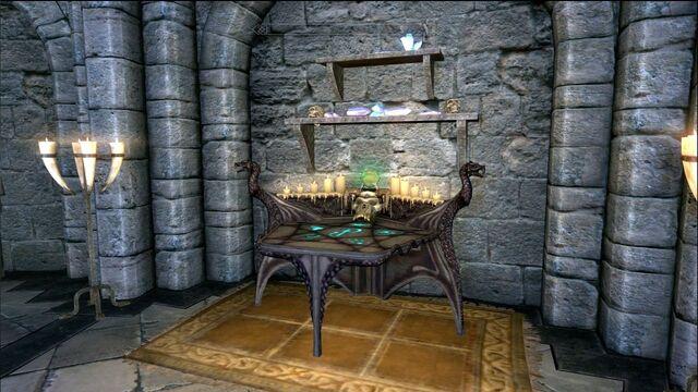 File:Skyrim Enchanting Table.jpg