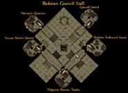 Redoran Council Hall Ground Level Interior Map
