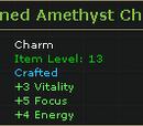 Refined Amethyst Charm