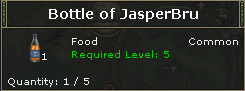 Bottle of JasperBru