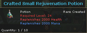 Crafted Small Rejuvenation Potion