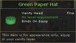 Green Paper Hat