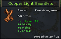 Copper Light Gauntlets