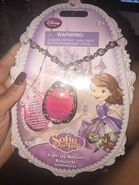 Sofia The First Jewelry Pink Amulet