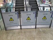 TK escalator fences 1
