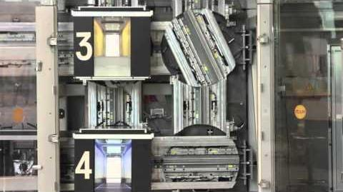 ThyssenKrupp MULTI elevator scale model