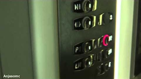 Otis 2000 VF elevators at Debenhams, Oracle Shopping Centre, Reading