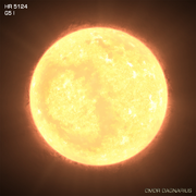 Yellow-White Supergiant Star