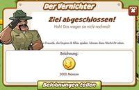 Der Vernichter Belohnung (German Reward text)