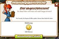 Unabhängigkeitswoche Belohnung (German Reward text)