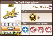The gold black widow