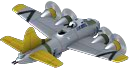 Flying Fortress Bomber Back