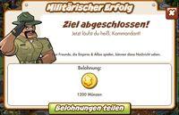 Militärischer Erfolg Belohnung (German Reward text)