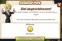 Denkmal-Park Belohnung (German Mission reward)