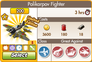 Polikarpov Fighter Upgraded Profile