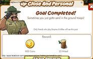 Up Close And Personal Reward