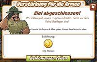 Verstärkung für die Armee Belohnung (German Mission text Reward)