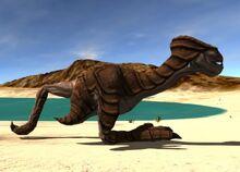 Dino (aggressive) walking