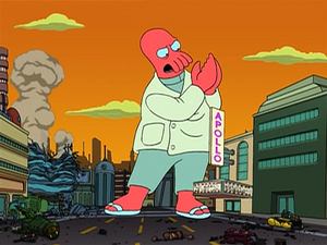 500 foot tall Zoidberg and The Apollo Theater