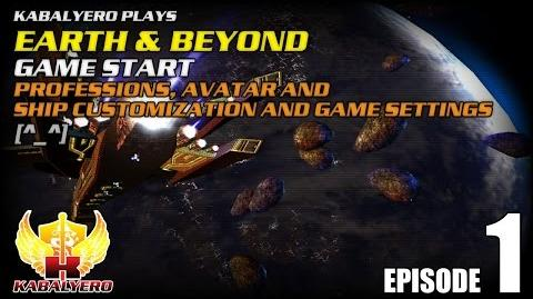 Earth & Beyond E1 Game Start - Professions, Avatar And Ship Customization And Game Settings