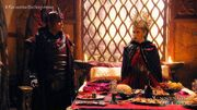 Hagorn and Pirena eat together