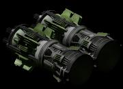 Medium atomic thruster