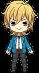 Kaoru Hakaze student uniform chibi