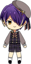Shinobu Sengoku School Uniform From Somewhere chibi